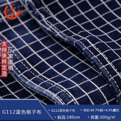 G112 blue plaid